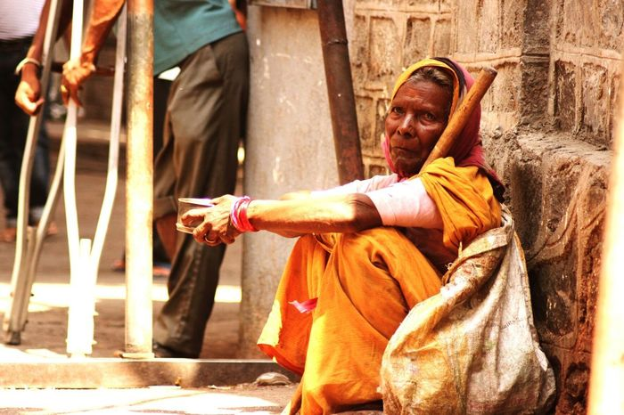 Taking Photos Street Photography Shirdi Hruturaj Zagade Oldwomen Begging Beggar