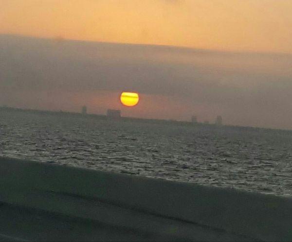 Sunrise City Tampa, FL From Bridge