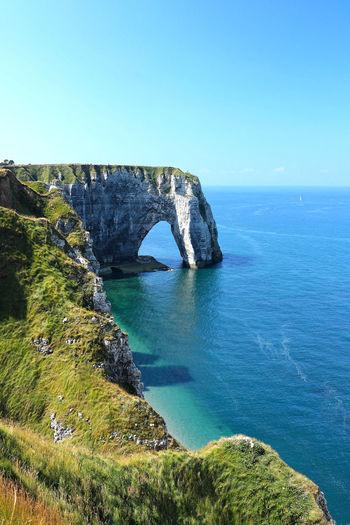 White cliff in