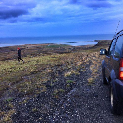 Roadtrip Exploring Icelandic Nature Blue Hour