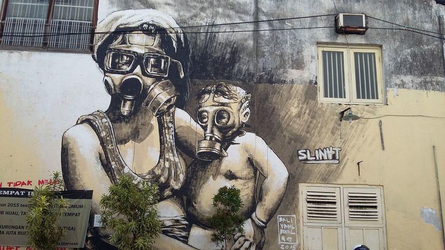 The world is (not) fine Street Art Mural Art City Corner Street Photography Denpasar City Bali INDONESIA