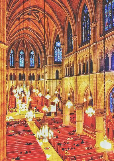 Inside the Cathedral Basilica of the Sacred Heart. Newark, NJ. Architecture Arch Indoors  Spirituality Built Structure Place Of Worship Window Religion Church Steps Red Interior Arched Aisle Cathedral New Jersey Newark EyeEm Catholic Basilica