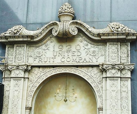 Pediment Elaborate Architectural Detail 1920 United Fruit Company New Orleans Central Business District Downtown New Orleans Architectural Elements Doorways Carved Fruit