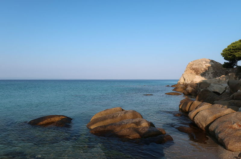 Rocks in shallow water GREECE ♥♥ Nature Scenic Travel Clear Sky Greece Horizon Horizon Over Water Landscape Nature Nikiti No People Outdoors Rock Rock - Object Scenics - Nature Sea Shallow Sithonia Sky Tranquil Scene Tranquility Turquoise Water Waterfront