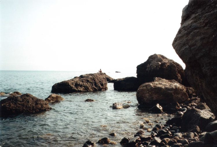 35mm Beauty In Nature Clear Sky Cliff Film Fisherman Geology Majestic Mju2 Mjuii Nature Olympus Peace Sea Seascape Sky Summer Summertime Tourism Travel Traveling Water
