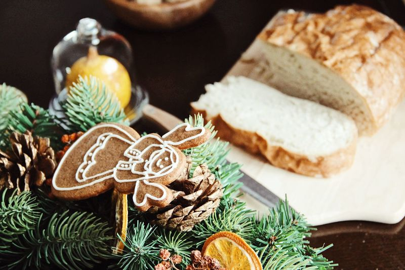 Christmas Gingerbread Cookie Christmas Holiday Celebration Food And Drink Food Indoors  Decoration christmas tree Christmas Decoration No People Still Life Freshness Close-up Table Tree Ready-to-eat Cookie Christmas Ornament Holiday - Event