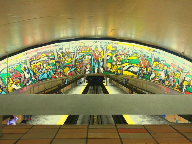Multi Colored Architecture Indoors  Architectural Feature Day Colorful No People Architectural Design Tourism STM Metro Station Papineau Subway Subway Station