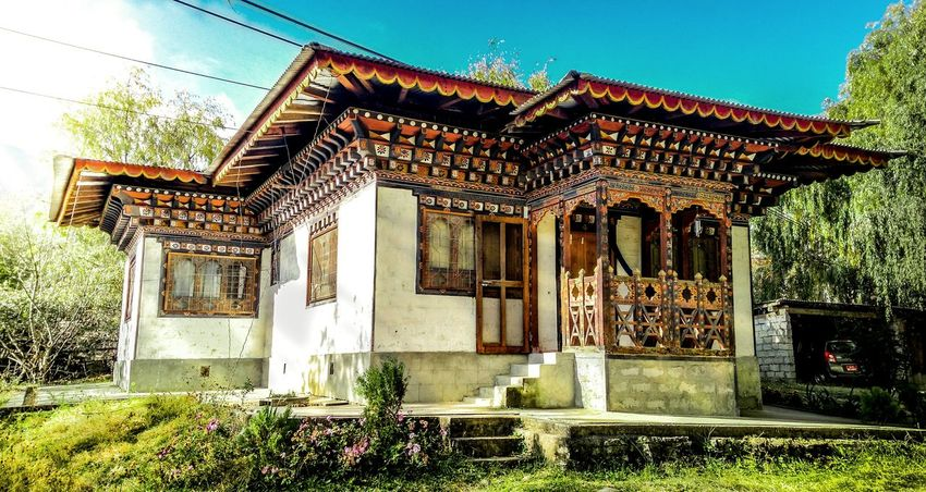 Architecture No People Built Structure Day Outdoors Sky Bhutanese Culture Bhutanese Architecture Mobilephotography Mobile_photographer TheWeekOnEyeEM EyeEm Gallery EyeEmBestPics EyeEm Best Shots Cultures Huaweiphotography Captured On Honor 4x The Architect - 2017 EyeEm Awards