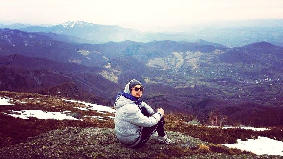 Nuthing but nature ! Mountain Sitting One Person Relaxation Nature Snow Landscape Romania