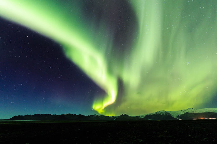 Astronomy Aurora Polaris Beauty In Nature Dramatic Sky Green Color Iceland Milky Way Natural Phenomenon Nature Night No People Outdoors Scenics Sky Space Star - Space Tranquility Travel Destinations