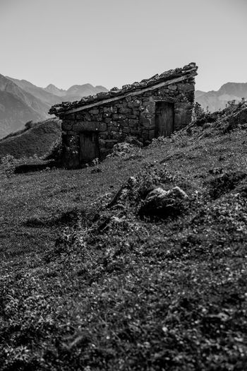 Shepherd's hut Ponga, Asturias Architecture Black And White Built Structure Clear Sky Landscape Mountain Nature No People Old Ruin Outdoors
