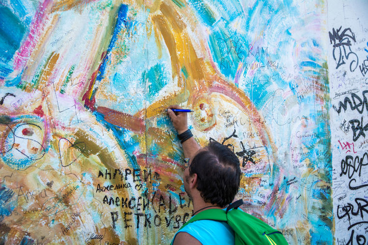 Berlin Berliner Mauer Change East Side Gallery Graffiti Sign Streetphotography Travel Traveling Wall The Tourist Up Close Street Photography Capture Berlin The Street Photographer - 2017 EyeEm Awards Discover Berlin