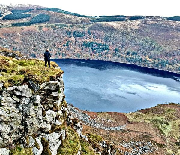 Mountain One Person Hiking Nature Beauty In Nature Mountain Range Ireland ☘ Autumn🍁🍁🍁 Fall Colors Mountain River Guiness Lake Clifs On The Edge Of A Mountain Perspectives On Nature Rethink Things Be. Ready.