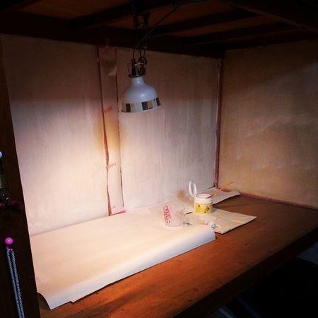 押し入れを作業スペースにリフォーム中です♪ アトリエ 工房 クリエーター DIY handmade
