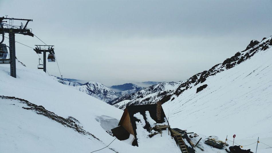 Shymbulak ski resort Mountain Ski Lift Deep Snow Shymbulak Almaty Kazakhstan