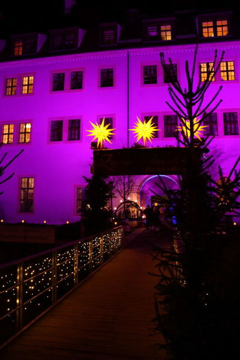 Christmas Time Christmas Market Night Illuminated Architecture No People Outdoors Zwickau Schloss Osterstein Schlossweihnacht