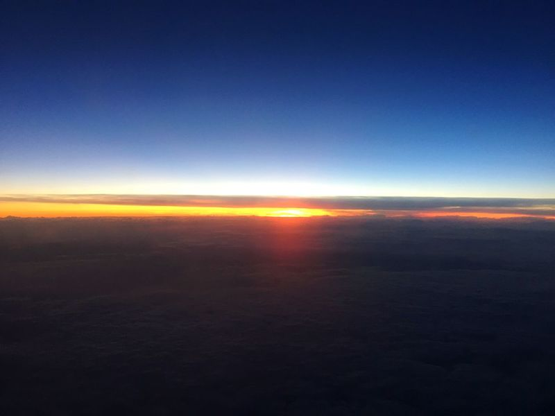 Sunset Blue Cloud - Sky From The Plane Window Plane Sunset #sun #clouds #skylovers #sky #nature #beautifulinnature #naturalbeauty #photography #landscape Flying