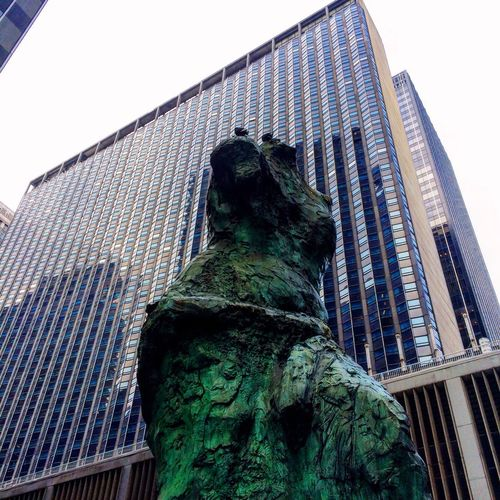 Showcase: November A Public Art Statue Bronze Sculpture in Midtown Manhattan on that on reminisces Venus De Milo by Jim Dine on an Overcast Fall day. || Art Streetphotography Lookup
