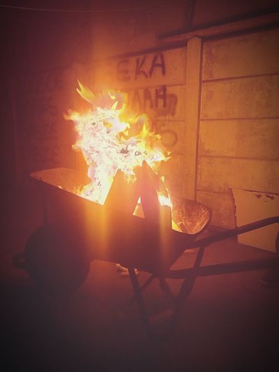 Fire - Natural Phenomenon Burning Flame Danger Glowing Wheelbarrow Braaing In Friends Togetherness LSFphghy