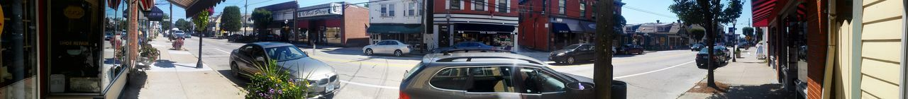 Rhode Island Main Street East Greenwich Home Is Where The Art Is Panoramic Photography 180°
