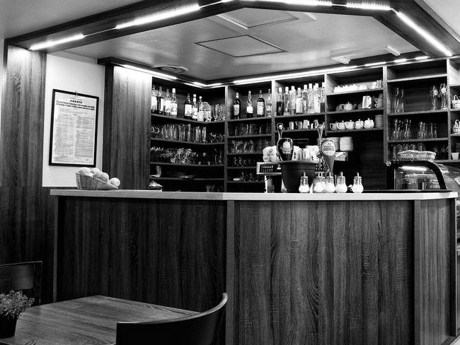 Vintage bar in Strasbourg. France Strasbourg Vintage Bar Street Photography X100t Fujifilm Fujifilm_xseries Black And White