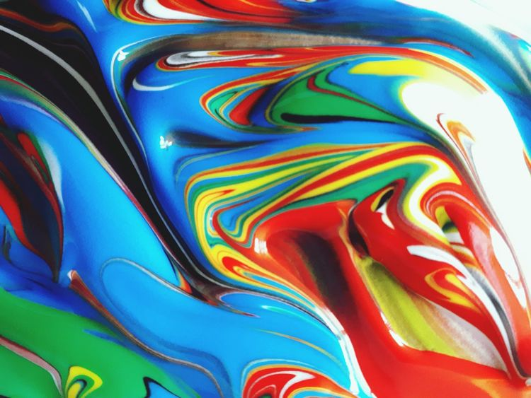 Backgrounds Multi Colored Abstract Textured  Close-up Paint Child Childhood High Angle View