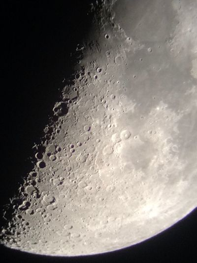 Photo of the moon taken with iPhone 5s attached to telescope. Celestron Mobile Phone Astrophotography Mobile Phone Photography Mobile Photography Moon Detail, Lunar Astronomy Photography Astrophotography Telescopepictures Telescope And Phone Telescope Photo Moon Photography Moon Shots IPhone 5S IPhone Iphonephotography IPhone Photography Night Photography Moon Craters Moon Surface Moonsurface Moon Night Beauty In Nature