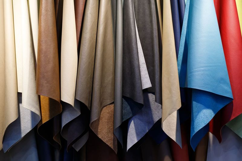 Multi colored leather shop
