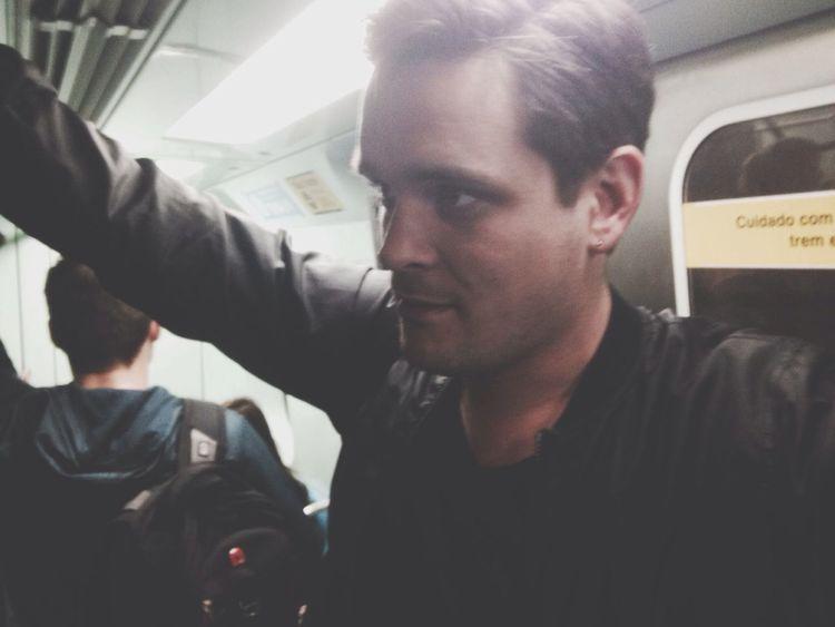 Metro Subway Guy Staring