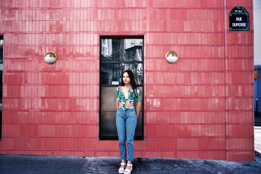 35mm Film Analogue Photography Adult Adults Only Architecture Building Exterior Built Structure Casual Clothing Day Filmisnotdead Front View Full Length Looking At Camera One Person One Woman Only One Young Woman Only Only Women Outdoors People Portrait Standing Young Adult