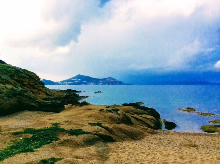 Naxos Island Of Naxos Naxos, Greece Aegean Sea Cyclades Islands Cloud - Sky No People Horizon Over Water Mountain Water Blue Color Gray Color Perspectives On Nature 🇬🇷Greece An Eye For Travel