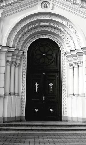 Architecture Door Church Blackandwhite Building City Light And Shadow Urban Geometry Geometry Cross