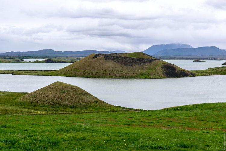 Mývatn, Skútustaðir Iceland Lake View Myvatn Volcano