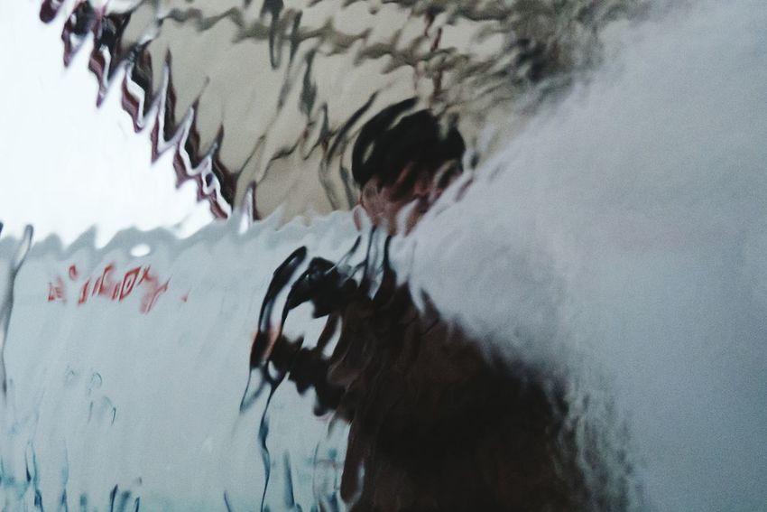 This is me washing my car... the view from inside. Imagination First Eyeem Photo Fresh On Eyeem  Carwash Carwashing Inspiring Creativity Splashing Splash Selfie Portrait Selfies People And Places