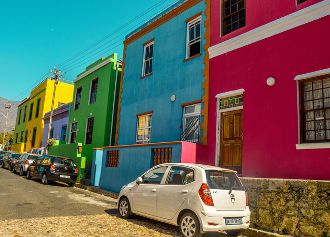 A colorful street in Bo-Kaap Bo-kaap Bokaap Building Exterior Cape Town Cape Town, South Africa Capetown Cheerful Color Palette Colorful Colorful Houses Colorful Street Colorful Streetphotograpy Colors Flamboyant Good Mood Houses South Africa