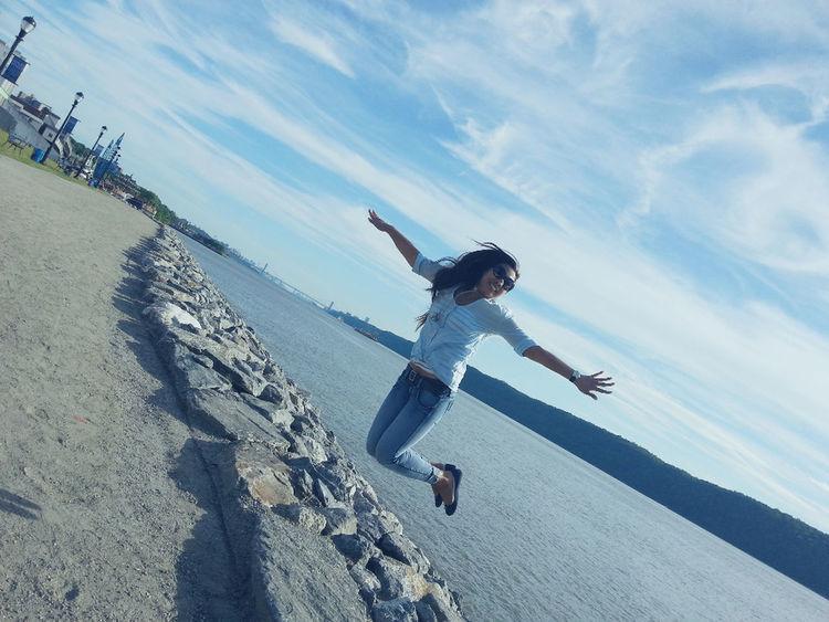 Jump High Blue Sky Enjoy Life YOU BLUE ME AWAY......