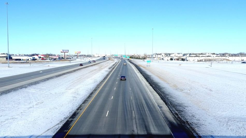 QVHoughPhoto FujiFilmX100 Fargo Northdakota I29 Interstate Freeway Cityscapes Landscape Winter Snow Traffic MidWest Life3