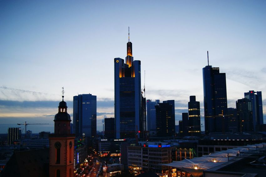 Frankfurt Am Main Mainhattan Skyline