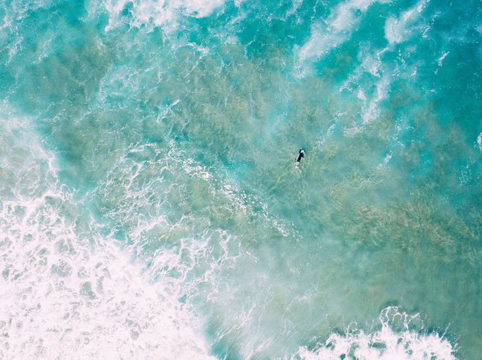 High Angle View Day Water Nature Swimming Swimming Pool Pool Beauty In Nature Outdoors Leisure Activity Real People Sea Unrecognizable Person Sport Turquoise Colored Blue One Person Lifestyles Holiday