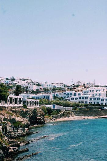 Mykonos, Greece. Greece Island Sea Summer Buildings Beach Traveling Travel