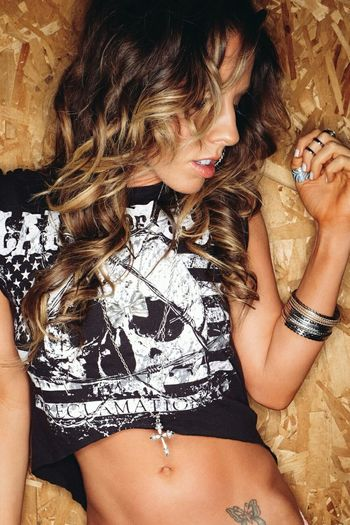 Always got to cut up my mans heavy metal shirts!!! Photoshoot Heavymetal Longhair Fitness Color Portrait Body & Fitness Fashion&love&beauty Rock'n'Roll Thst's Me Enjoying Life photo by