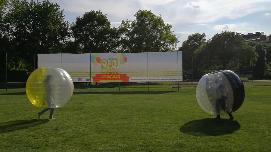 Fun Siblings Sisters Sisters ❤ Vienna Vienna, Austria Augarten Ball Outdoors Park Playing Field Wien Zorb Zorbing