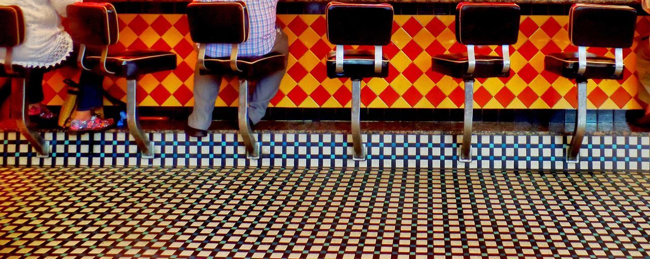 EyeEm Selects Striped Flag Pattern No People Day Seating Sitting EyeEm Best Edits Shapes Indoors  Patterns Close-up Colors Lines And Shapes Dinerstyle