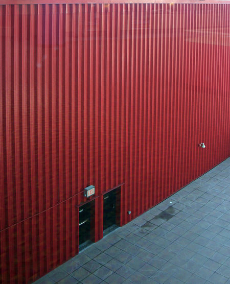 Behind the red wall Architecture Brick Wall Built Structure Day Empty Fresh On Eyeem  No People Outdoors Red Seeing Red Entrance Entrances Red Wall Relaxing Repetition The Way Forward TakeoverContrast 17.62°