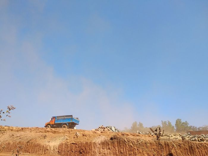 Construction Site Construction Trucks Destruction Mankind Roadscenes Roadconstruction Mining Industry Mining Goa India Agriculture Agricultural Machinery Outdoors Sky Rural Scene