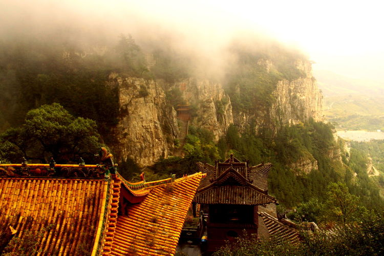 Beauty In Nature Buddhist Temple China China Photos Datong Great Outdoors With Adobe Idyllic Landscape Mountain Nature Non-urban Scene Outdoors Scenics Sky Sunset TaoistTemple Temple Tranquil Scene Tranquility