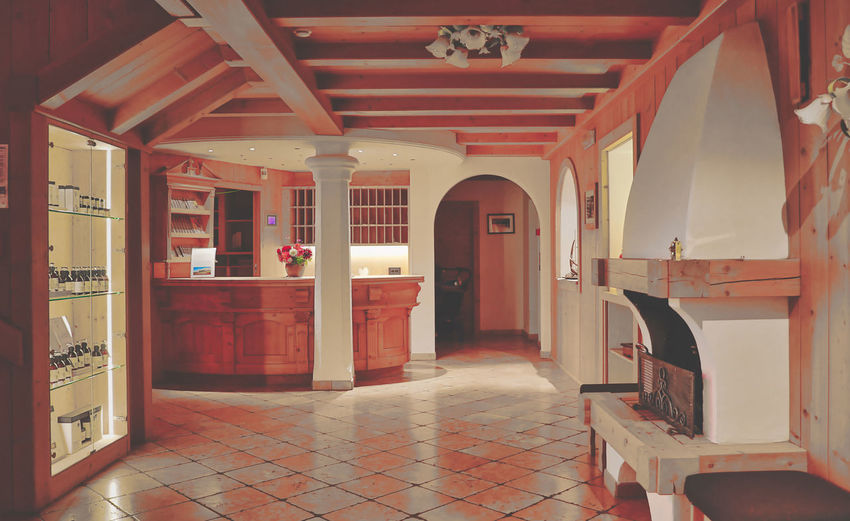 Architecture Built Structure Indoors  Building Flooring Architectural Column Arcade Door Tiled Floor Arch Corridor Absence Entrance No People Tile House Empty Day Red Luxury Ceiling