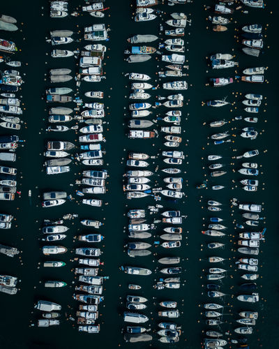 No People Pattern HongKong Hongkongphotography Boat Boats Yacht Yachting Yachts Yachtlife Yacht Harbor Dock Aerial View Aerial Aerial Photography Topdown Topdownshots Day Dronephotography Parking Park Harbor