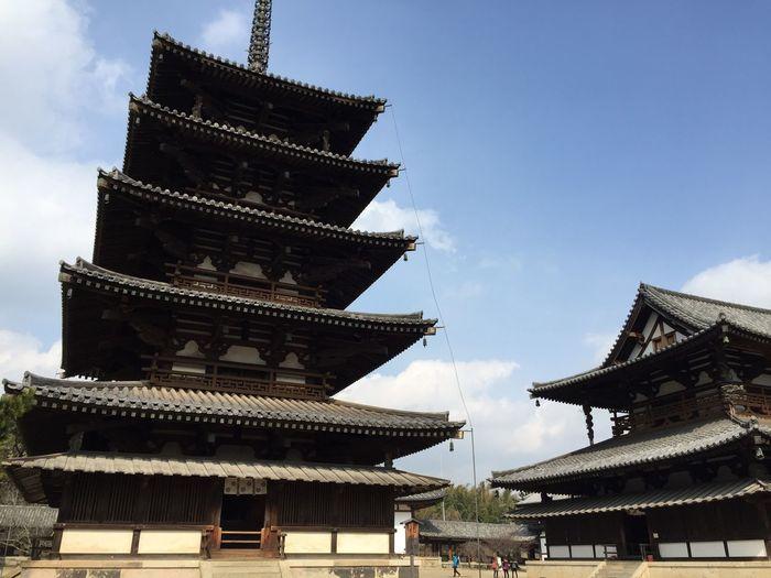 法隆寺 (Horyuji Temple) Traveling Japanese  Japanese Culture Nara,Japan Travel Temple Traditional