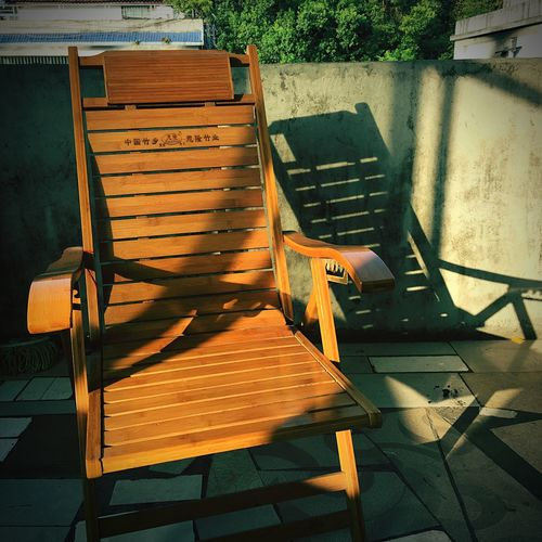 Chair No People Absence Seat Day Sunlight Shadow Furniture Folding Chair Breathing Space